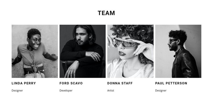 A team of our best workers CSS Template