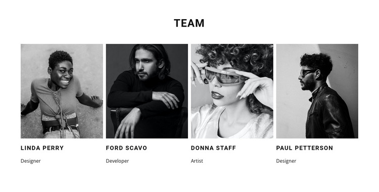 A team of our best workers HTML Template