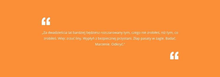 Cytat z pomarańczowym tłem Szablon Joomla