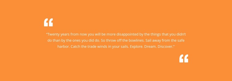 Quote with orange background Static Site Generator
