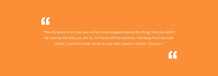 Quote with orange background Website Template