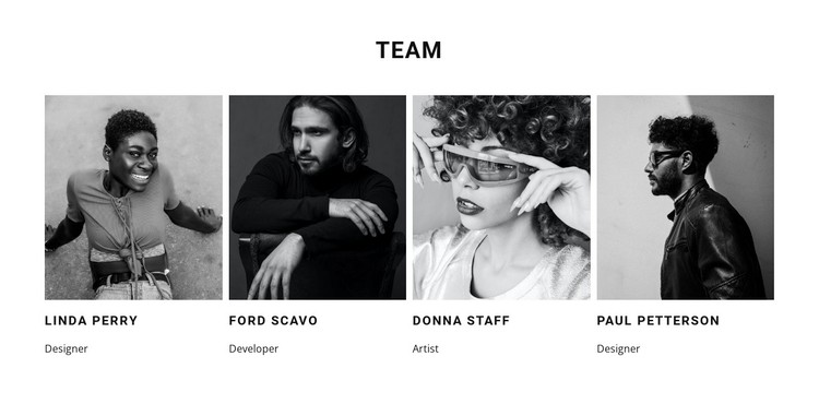 A team of our best workers WordPress Template