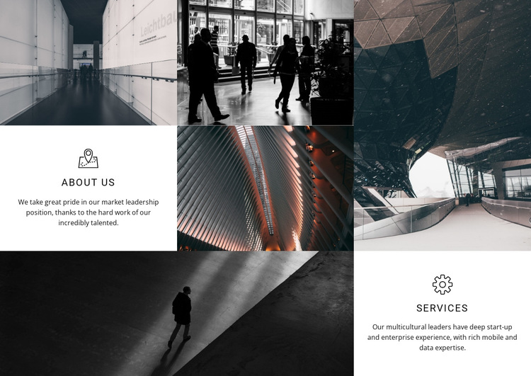 About Us Services HTML5 Template