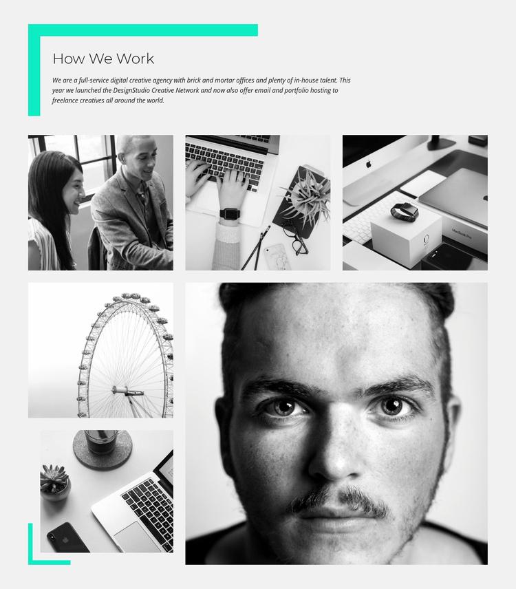 How wo Work Website Template