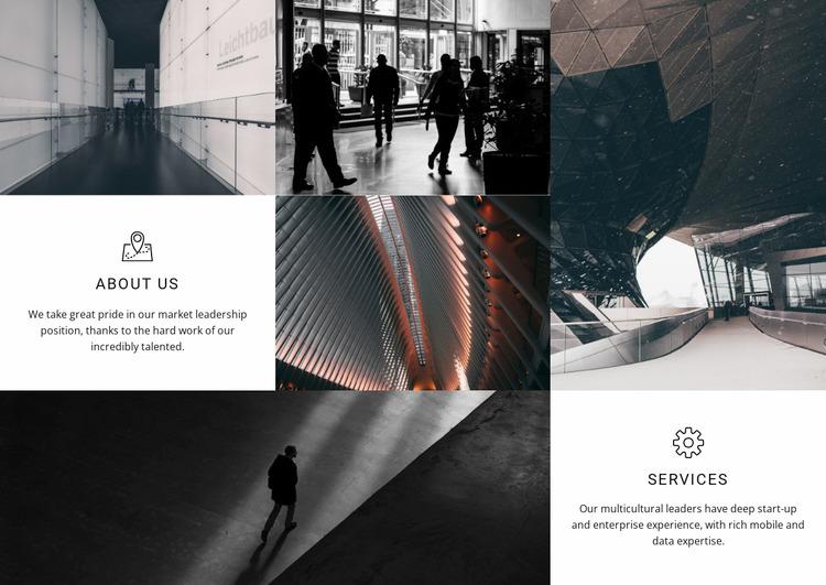 About Us Services WordPress Website Builder