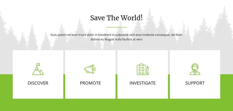 Save The World Joomla Template