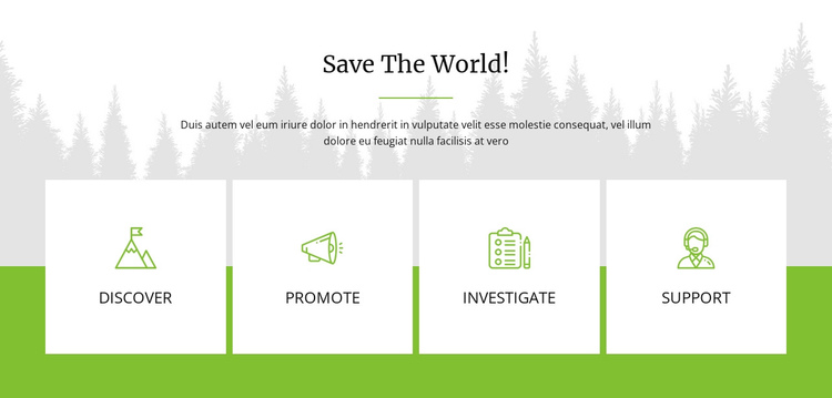 Save The World One Page Template