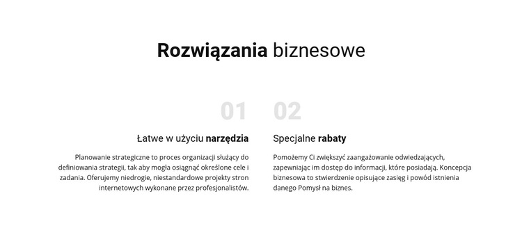 Tekstowe rozwiązania biznesowe Szablon witryny sieci Web
