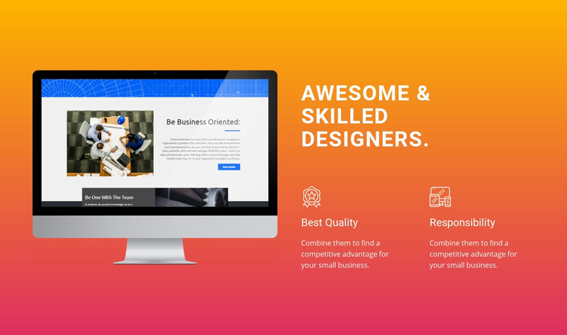 Awesome and Skilled Designers Web Page Design