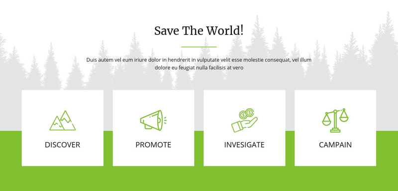 Save The World Web Page Design