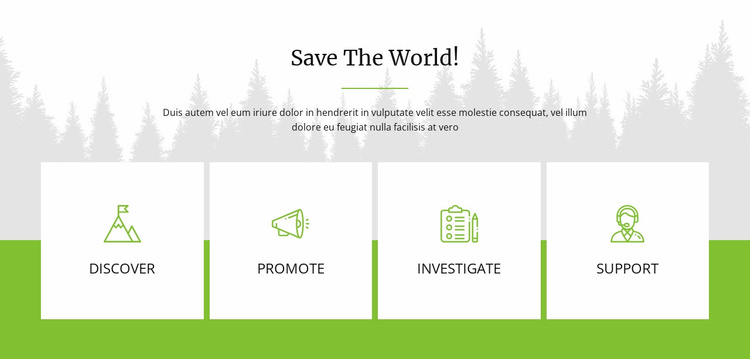 Save The World Website Template