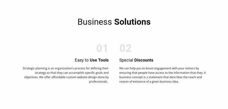 Text Business Solutions Website Template