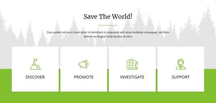 Save The World WordPress Template
