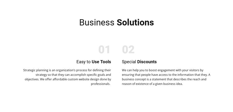 Text Business Solutions WordPress Template