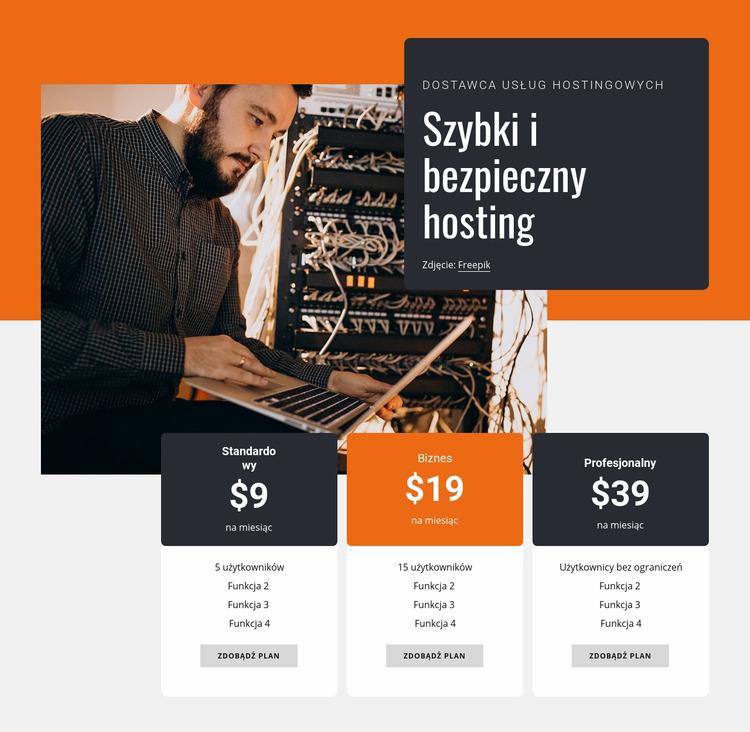 Bezpieczny hosting Szablon Joomla