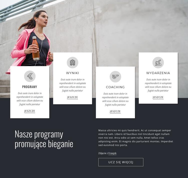 Nasze programy do biegania Szablon witryny sieci Web