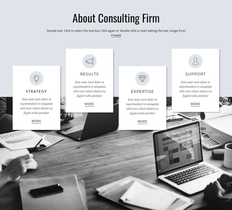 About consulting firm Website Builder Software