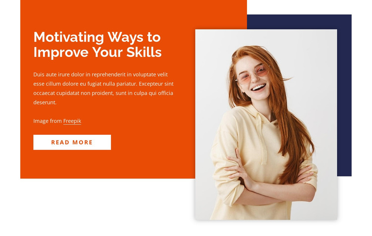 How to improve your skills HTML Template