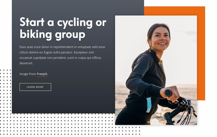Start a cycling group Website Design