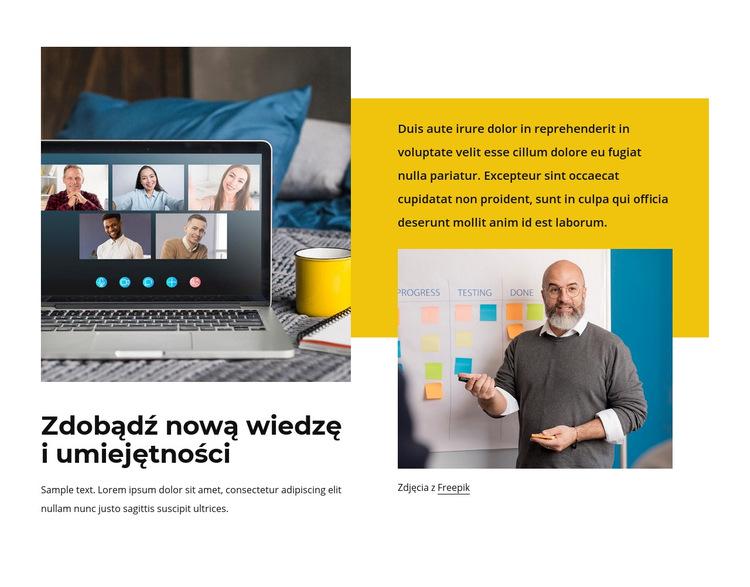 Nowa wiedza i umiejętności Szablon witryny sieci Web