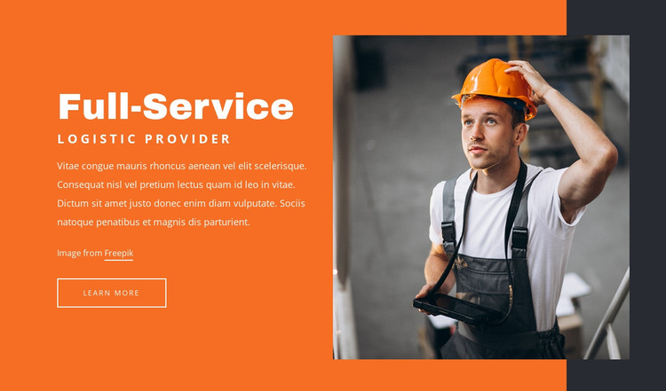 Logistic provider HTML Template