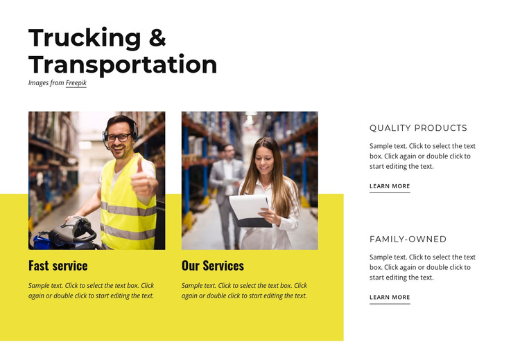 Trucking and transportation HTML5 Template