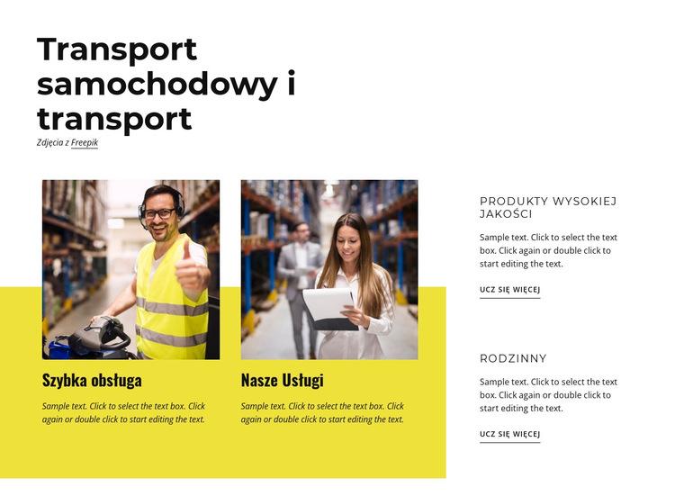 Transport i transport Szablon witryny sieci Web