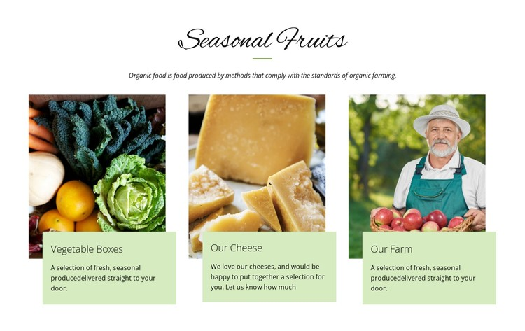 Seasonal fruits CSS Template