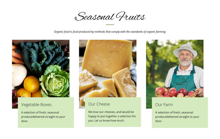 Seasonal fruits Joomla Page Builder