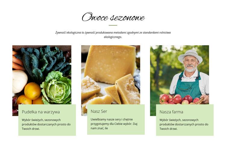 Owoce sezonowe Szablon witryny sieci Web