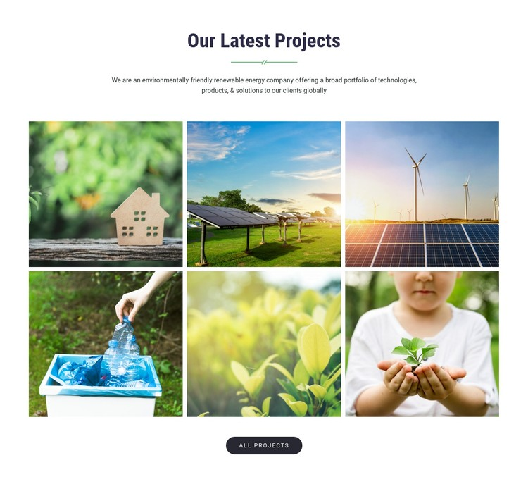 Our Latest Projects WordPress Template
