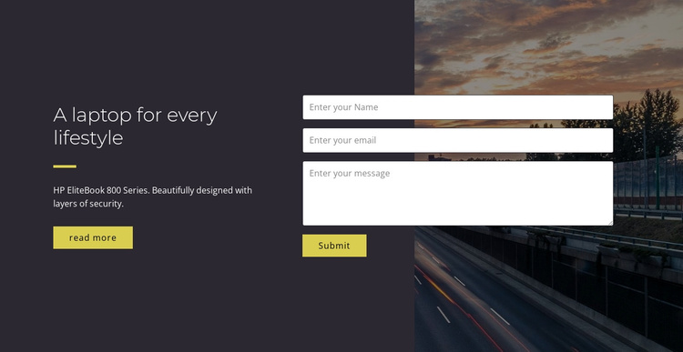 A laptop for every lifestyle Joomla Template