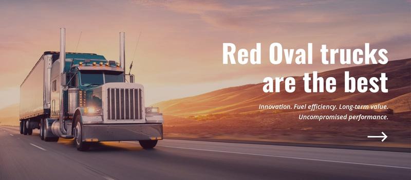 Oval Trucks Web Page Design