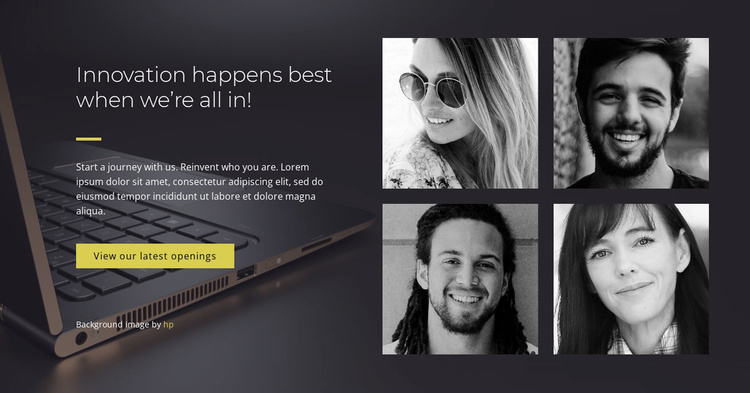 We are brainstormers and creators Website Template
