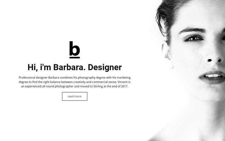 About designer Joomla Template
