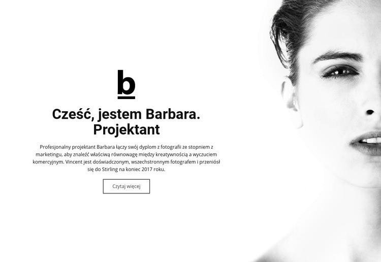 O projektancie Szablon witryny sieci Web
