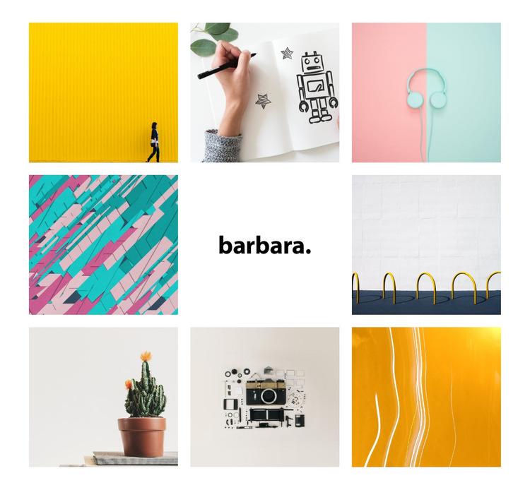 Barbara Szablon witryny sieci Web