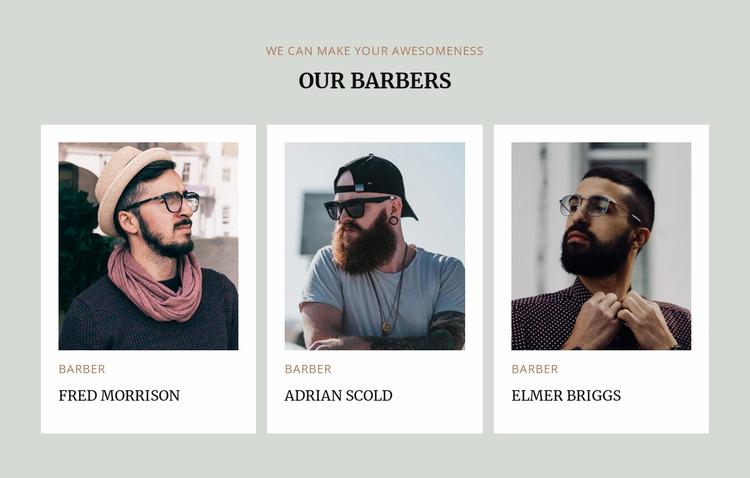 Barbers of modern barbershop Html Website Builder