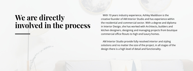 Text directly involved process HTML5 Template