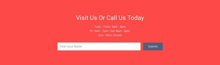 Visit or call us Joomla Template