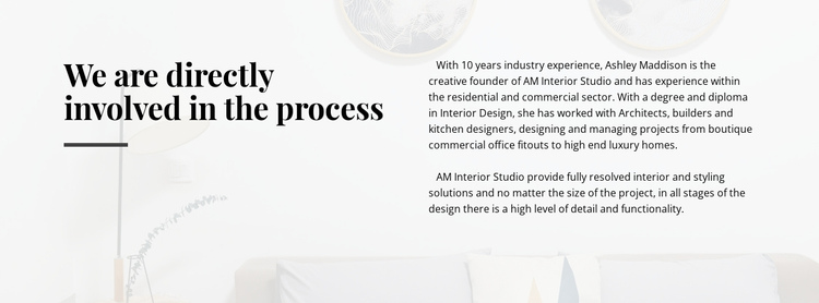 Text directly involved process One Page Template