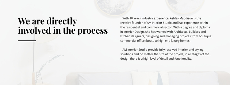 Text directly involved process Website Design