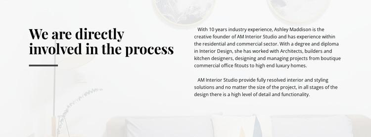 Text directly involved process WordPress Theme