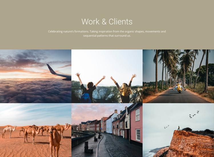 Travel work clients Website Template