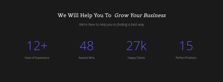 Counter Your Business CSS Template
