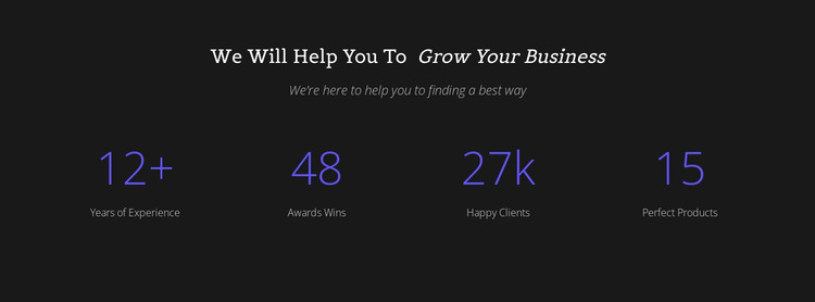 Counter Your Business Html Website Builder