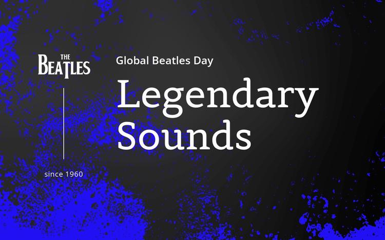 Beatles legendary sounds Website Template