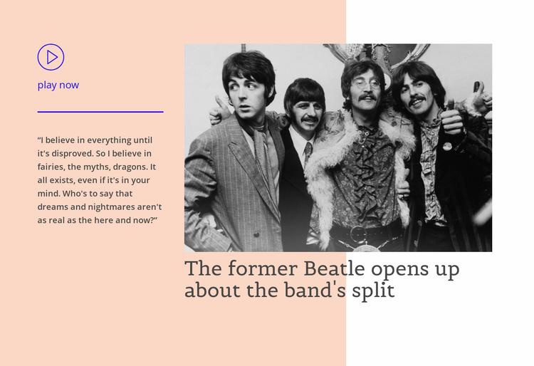 Beatle opens up Website Template