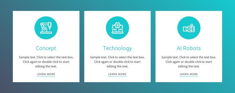 Robotics process automation HTML5 Template