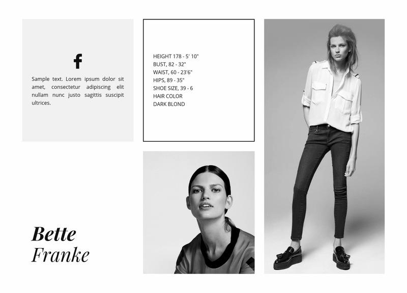 Fashion Model Web Page Designer